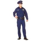 Officer Adult Black Xxl 48-50