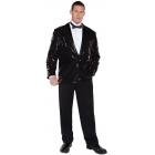 Sequin Jacket Black Adult Xxl
