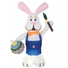 Inflate Bunny 7Ft W Brush Egg