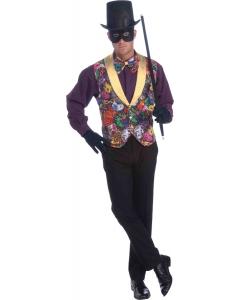Mardi Gras Vest Bow Tie